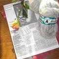 Voilà ma laine de mon grr couleur gris clair. un
