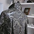 Ciré AGLAE en coton enduit baroque gris (9)