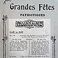 Les grandes fêtes patriotiques de 1919 à belfort, la soirée du jeudi 14 août (3e partie)