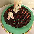 Gâteau de Pacques : les lapins au potager