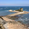 Corniche hendaye / pointe ste anne - chateau d'abbadia