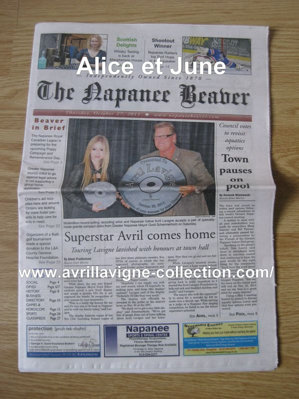 The Napanee Beaver-Newspaper (27 octobre 2011)