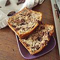 Banana bread d'automne au chocolat et noix
