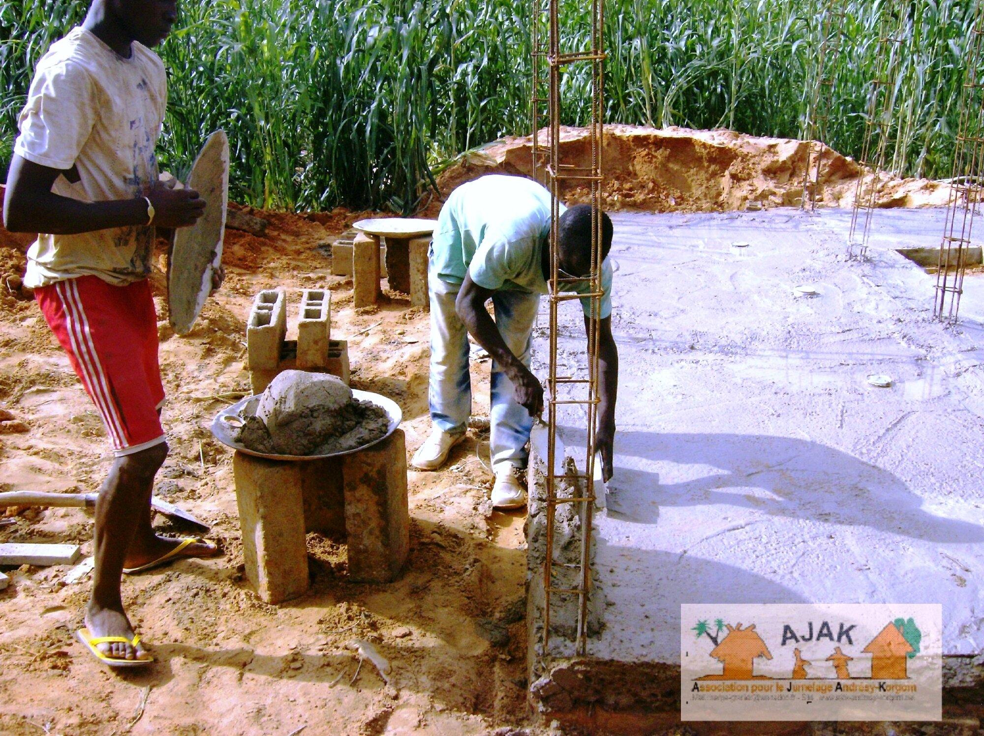 latrines CEG - le sol