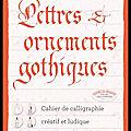 lettres et ornements gothiques