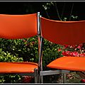 701 chaises vintage 70s skai orange
