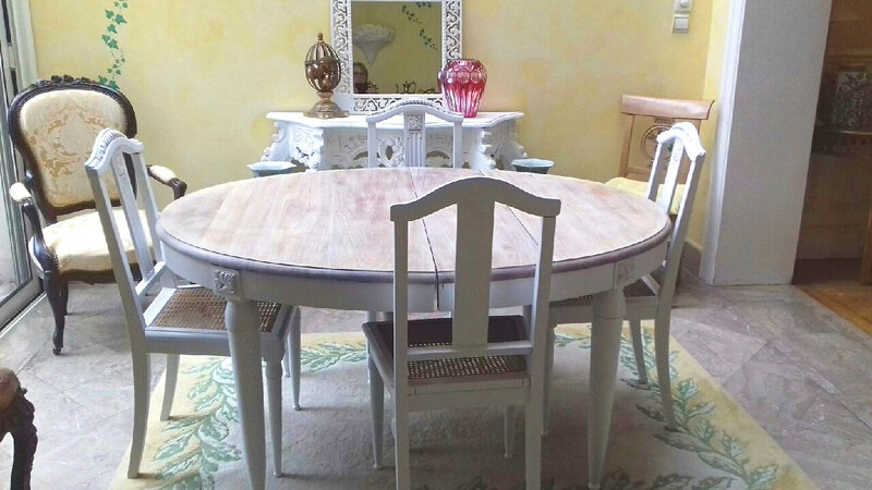 table ovale shabby