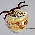 Verrine de crème dulcey, vanille et spéculoos