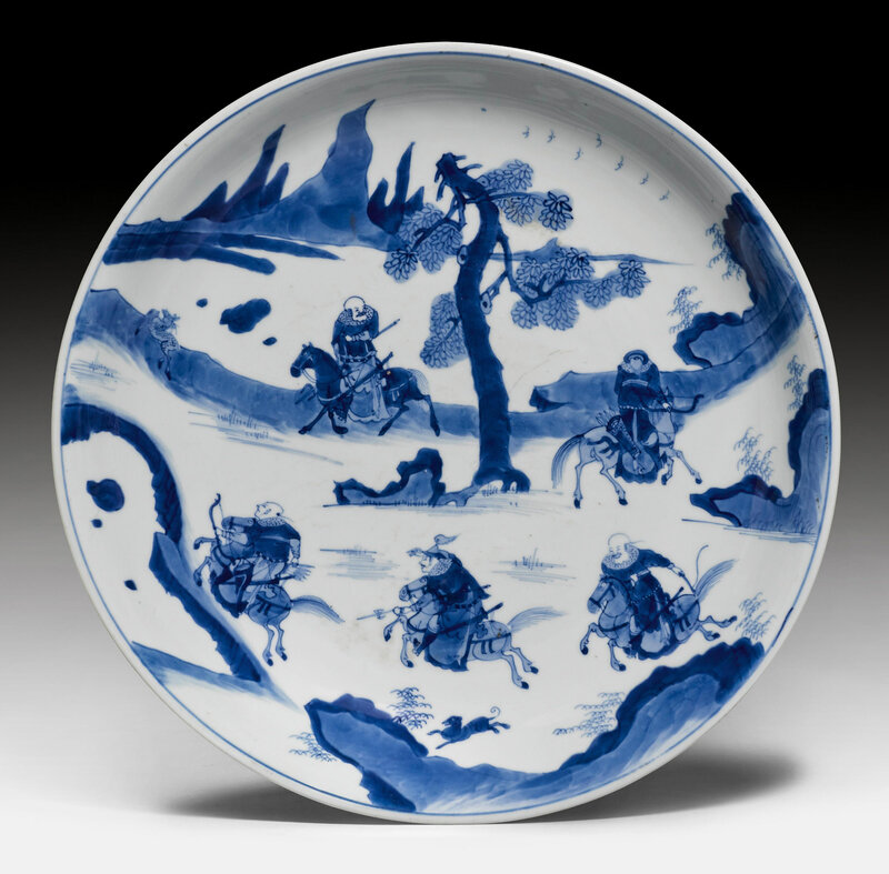A blue and white saucer, China, Kangxi period (1662-1722)