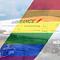 Paris-san francisco-paris, deux vols air france aux couleurs de l'arc en ciel lgbt