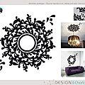 Stickers : thème design baroque