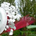 les oeuvres à partir de matériaux recyclés de Mariannick Edel et