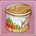 Boîte bois décor Chatons noël passementerie or2 10x8cm