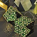 Guirlande cubes origami vert jade
