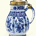 A silver-gilt mounted blue and white tankard. the porcelain: chinese, 17th century; the mounts: european, 17th century