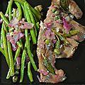 Cœur de bœuf sauce au beurre de sauge, câpres et oignons