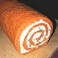 La bûche apéritive (roulé à la tomate et au fromage frais)