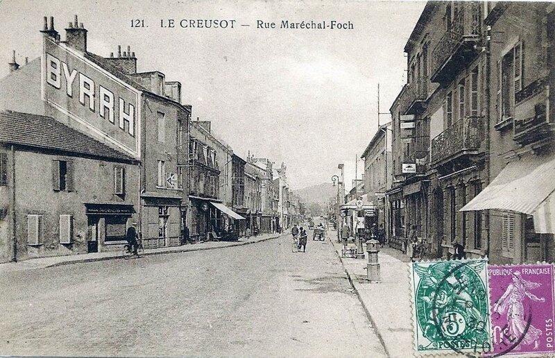 1919-09-11 - Le Creusot rue du maréchal foch