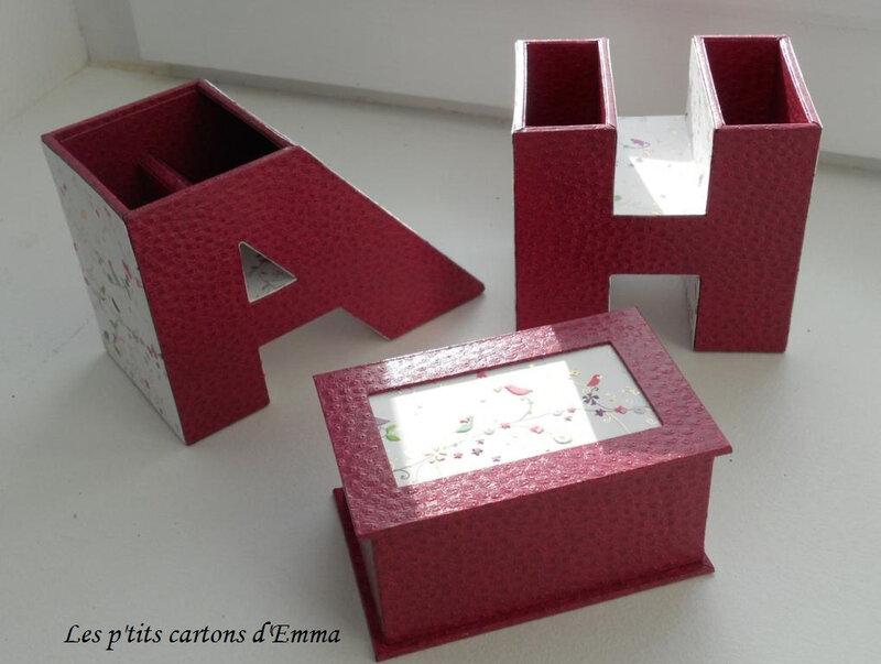 Pot à crayon lettres roses b