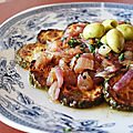 courgettes a la charmoula aux oignons et vinaigre (jraywet mcharmla bel bssal ) - recette inédite