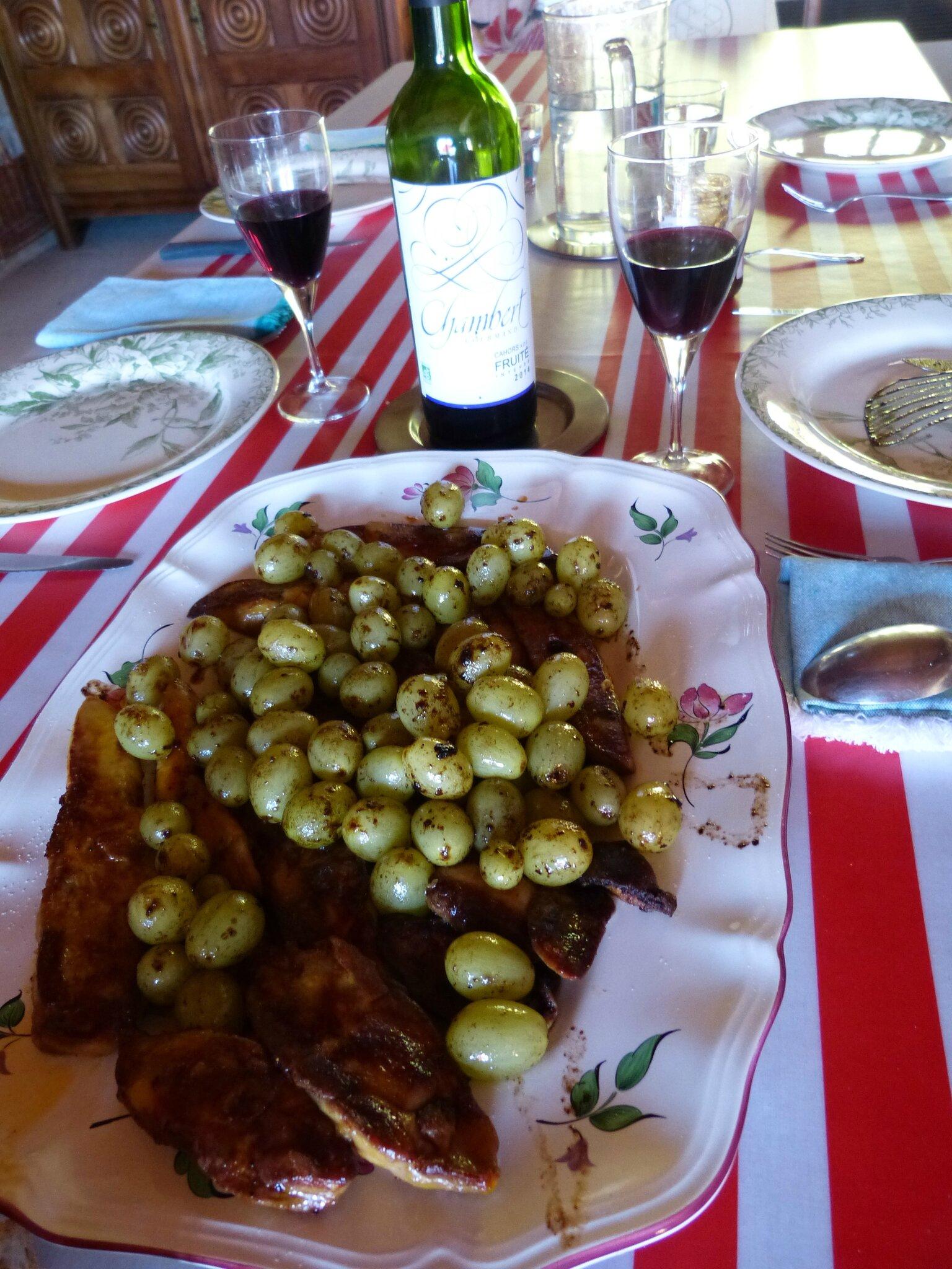 foie gras aux raisins