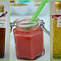 Gaspachos de fraises, safran, romarin