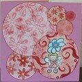 Carte dans les teintes roses