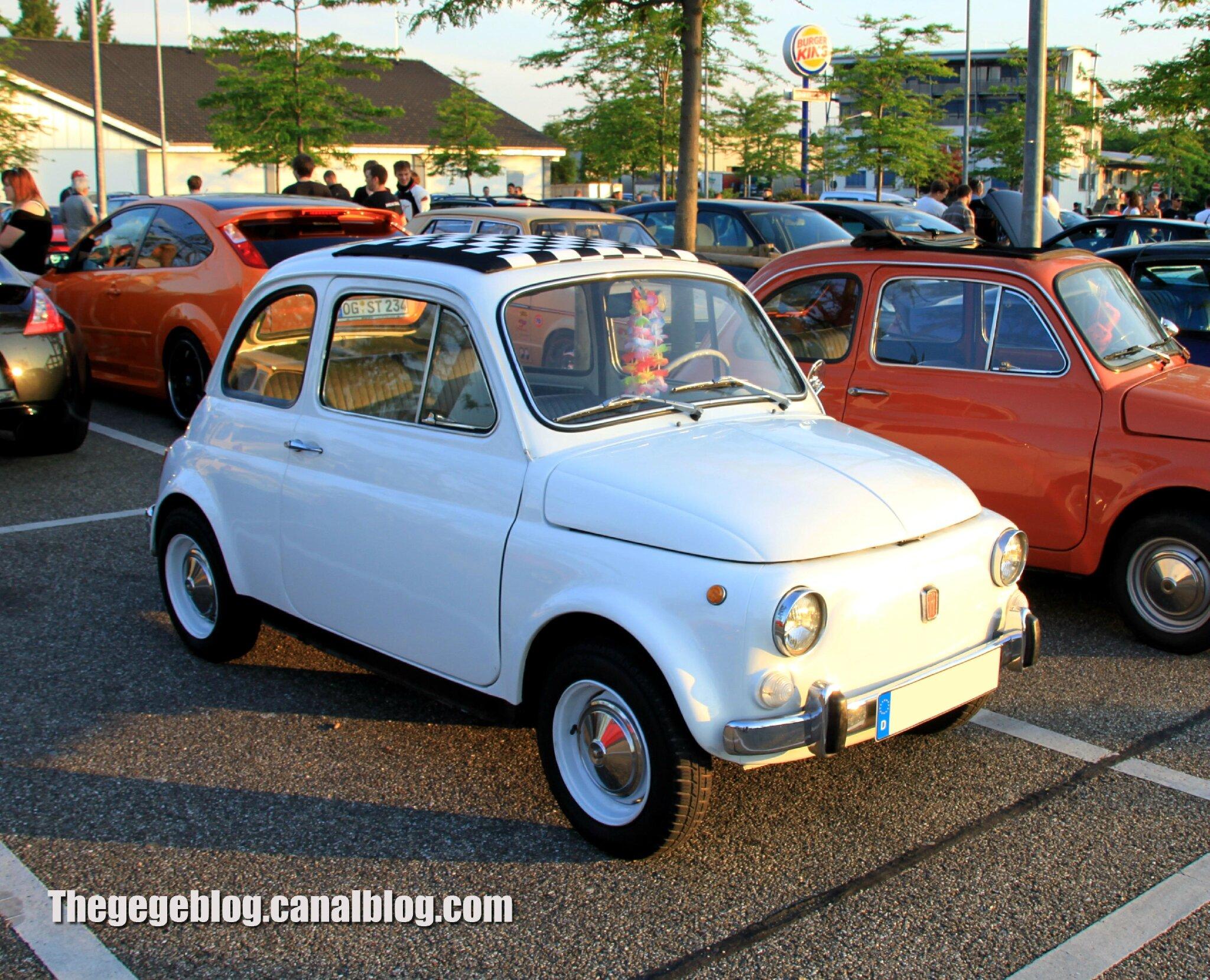 Fiat nuova 500 (Rencard Burger King juin 2013) 01