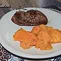 Filet de canard au miel et kakis rôtis