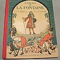 Livre fables de la fontaine illustrées par r. de la nézière 1929
