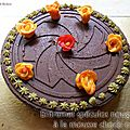 Entremet speculos nougatine mousse choco orange