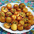La saut dans l'inconnu : petites bouchées apéritives au parmesan et olives