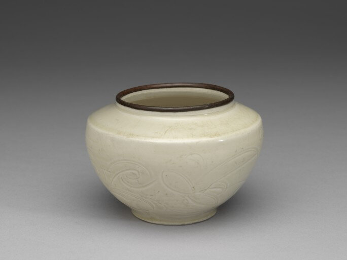 A Ding 'Lily' Jarlet, Northern Song Dynasty, 11th to 12th Century, Qing Court Collection, National Palace Museum, Taipei