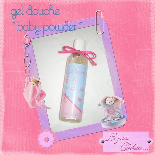 gel douche baby powder