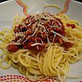 Sauce bolognaise végétariennes (au soja texturé)