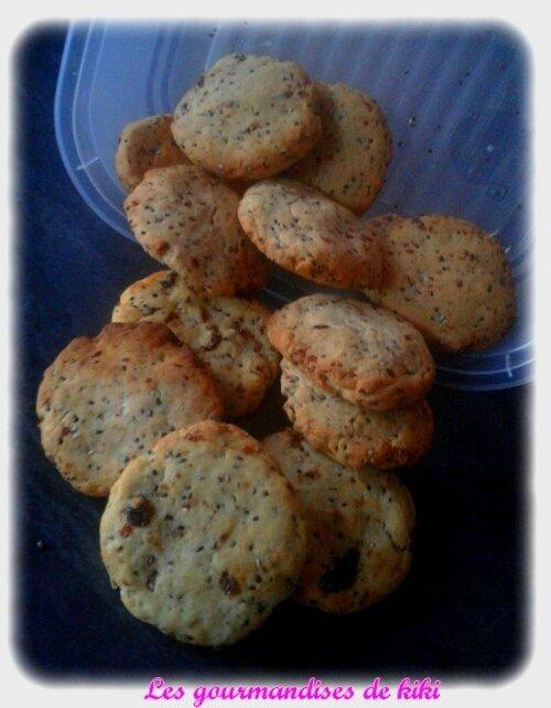 Cookies diététiques aux raisins secs et graine de chia