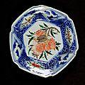 Hexagonal dish with hydrangea and cicada, ming dynasty, tianqi-chongzhen period, 1621-1644