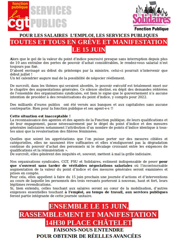 Tracts 15 juin