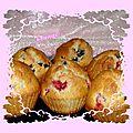 Muffins myrtilles groseilles