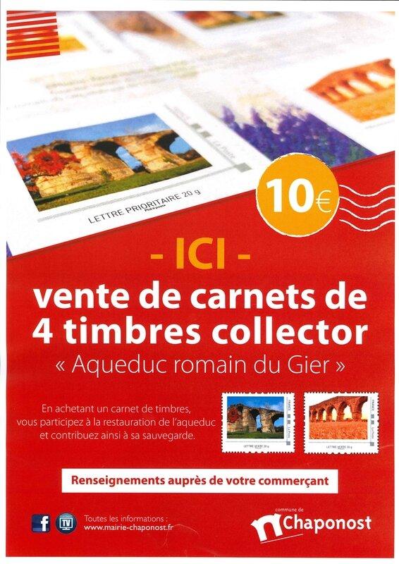 "- Carnets de timbres collector ""Aqueduc romain du Gier"""