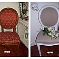 Chaise Médaillon transformée...