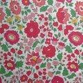Tissu liberty d'anjo rouge et vert