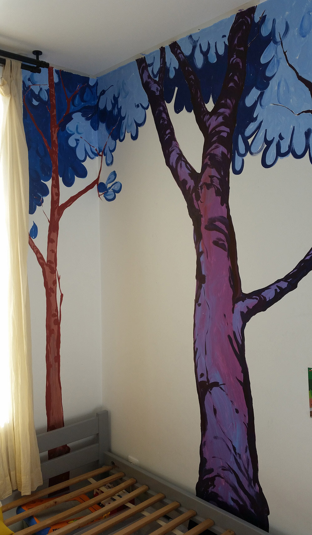 Multicolor forest in the kids' room