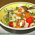 Salade d'asperges et tomates cerises à la feta