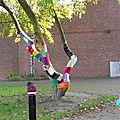 Yarn bombing en ville