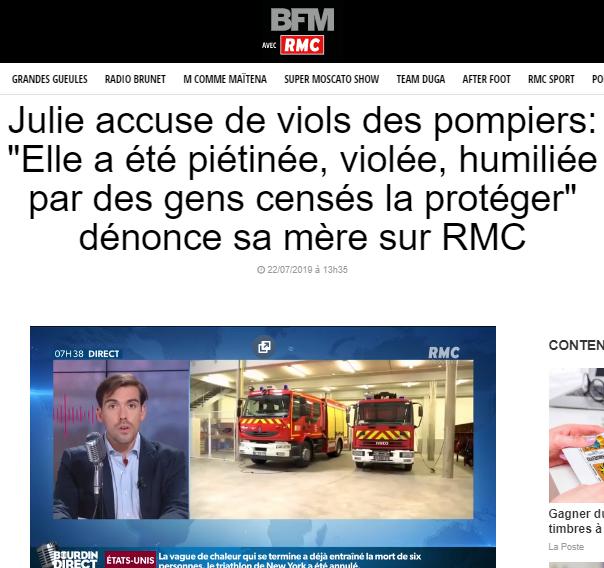2019-08-04 12_34_14-Julie accuse de viols des pompiers_ « Elle a été piétinée, violée, humiliée par