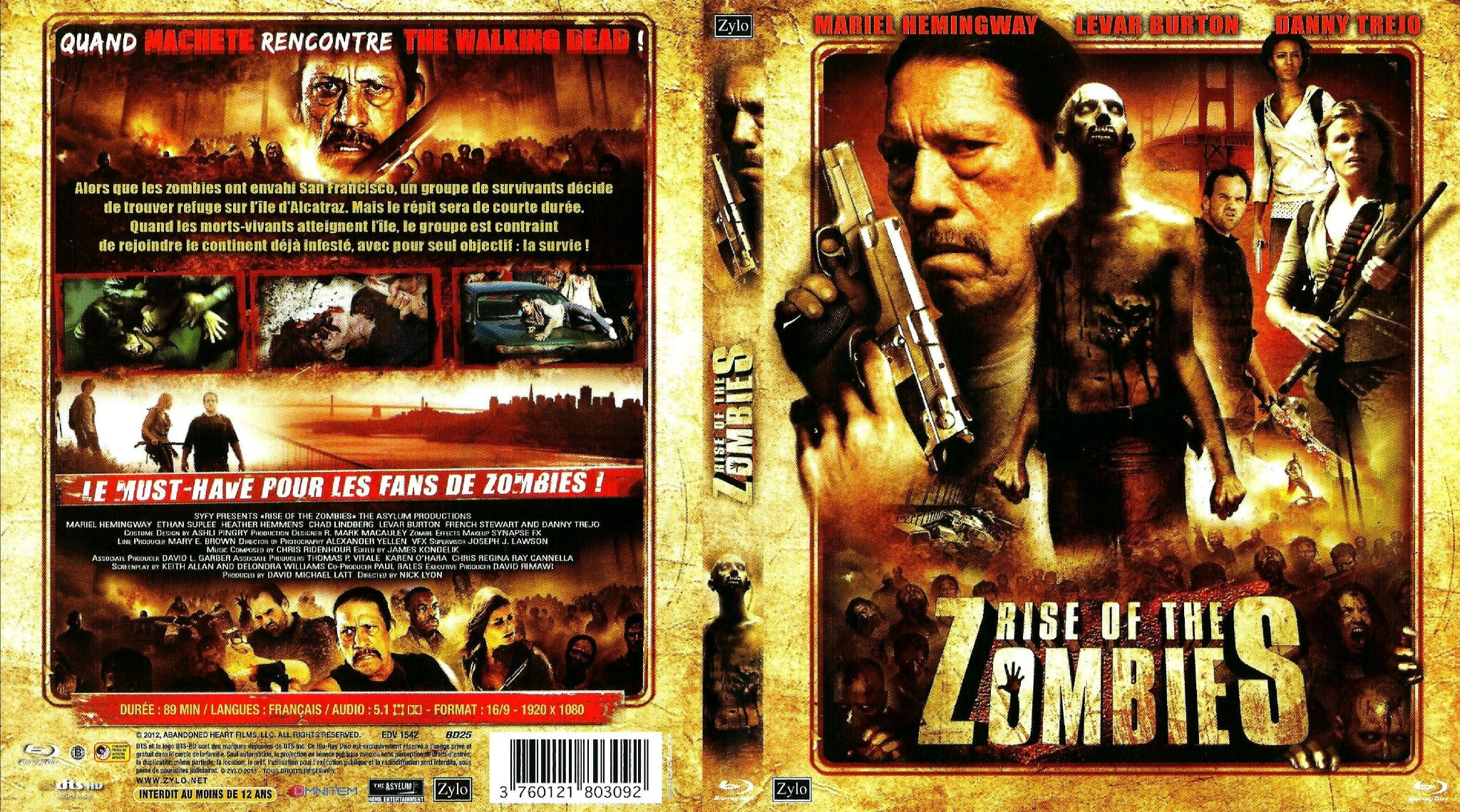 Jaquette Rise of the Zombies