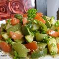 Salade courgette-poivron-tomate