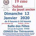 Congistoys 2020 - salon du jouet ancien- le dimanche 12 janvier 2020 à congis sur thérouanne 77440