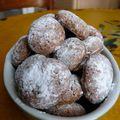 Cookies ou petits macarons chocolatés
